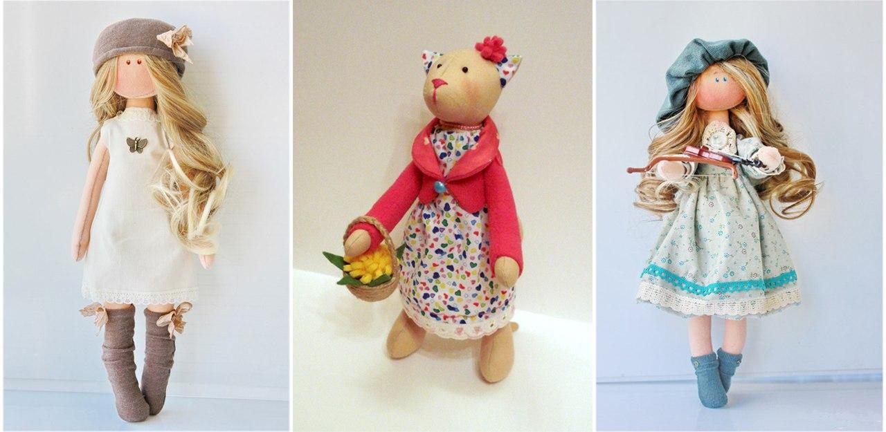 Куклы своими руками из ткани с мастер классом